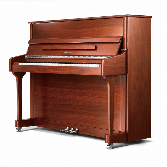 Ritmuller 118cm Traditional Upright Piano Walnut Satin Lustre NEW